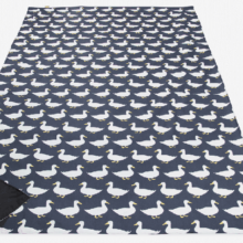 Anorak Waddling Ducks Large Picnic Blanket