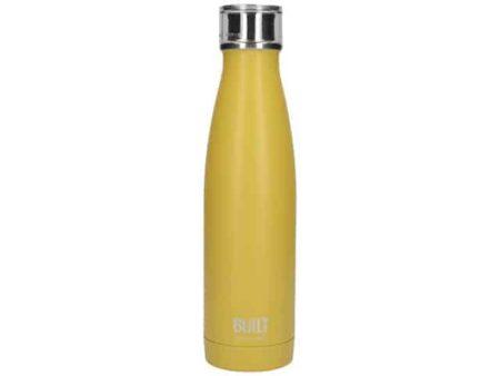 Built Stainless Steel Mustard Yellow Water Bottle 500ml