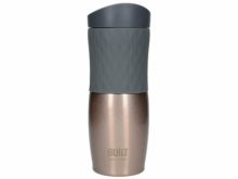 Built Tilt Stainless Steel Travel Mug Rose Gold And Grey 470ml