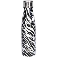 Built New York Stainless Steel Zebra Water Bottle 500ml