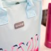 KitchenCraft Flamingo Lunch Cool Bag 4 Litre Badge Close Up