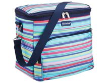 KitchenCraft Antigua 12 Litre Multi-Colour Stripy Cool Bag