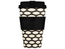 Ecoffee Bamboo Reusable Cup Basketcase 14oz