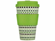 Ecoffee Reusable Bamboo Cup Green Polka 400ml