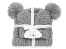 Katie Loxton Baby Hat And Mittens Set Grey 0-6 Months