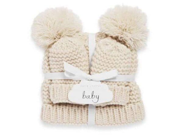 Katie Loxton Baby Hat And Mittens Set Cream 0-6 Months