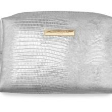 Katie Loxton Metallic Lizard Make-Up Bag Silver