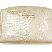 Katie Loxton Make-Up Bag Metallic Lizard Gold