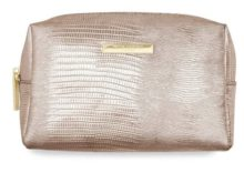 Katie Loxton Metallic Lizard Rose Gold Make-Up Bag