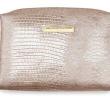 Katie Loxton Metallic Lizard Rose Gold Make-Up Bag