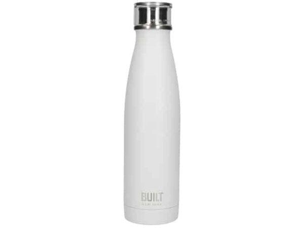 Built New York Stainless Steel White Water Bottle 500ml