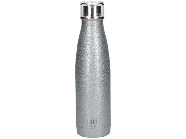 Built NY Stainless Steel Silver Glitter Water Bottle 500ml