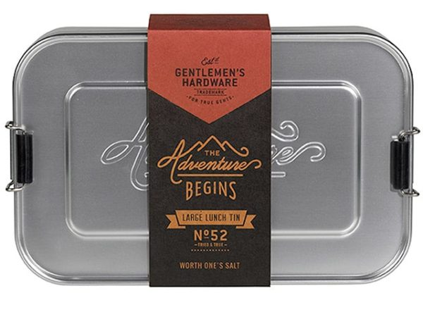 Gentlemens Hardware Aluminium Large Lunch Box