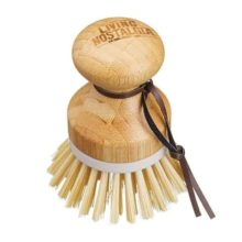 Living Nostalgia Bamboo Round Grip Dish Brush