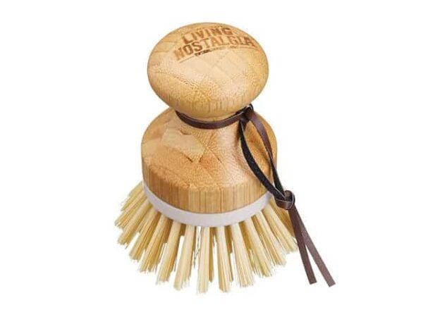 Living Nostalgia Bamboo Round Grip Dish Brush