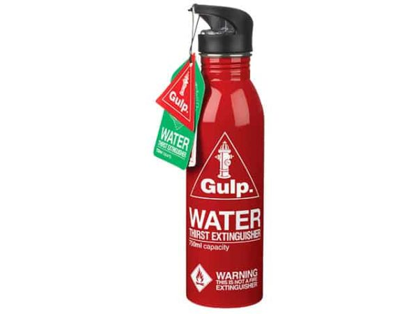 Red Gulp Thirst Extinguisher Water Bottle 750ml
