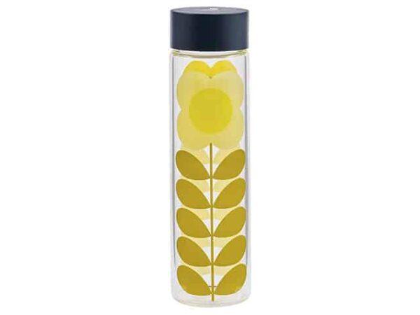 Orla Kiely Daisy Stem Glass Water Bottle 525ml