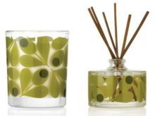 Orla Kiely Acorn Cup Fig Tree Candle and Diffuser Set