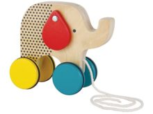 Petit Collage Wooden Pull Along Toy Elephant