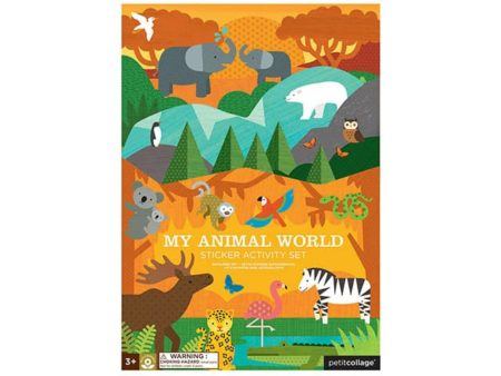Petit Collage My Animal World Sticker Activity Set