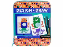 Petit Collage Design and Draw Monsters Drawing Set