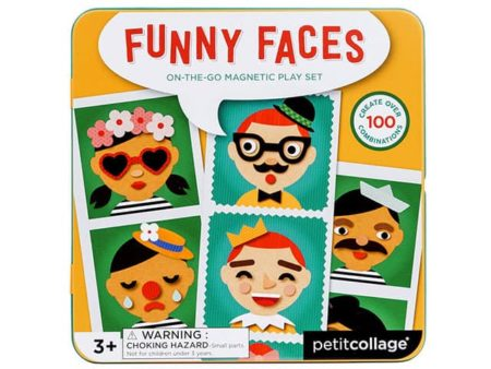 Petit Collage Magnetic Funny Faces Play Set