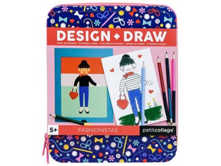 Petit Collage Design and Draw Fashionistas Drawing Set