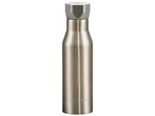Ted Baker Pale Gold Water Bottle Hexagonal Lid