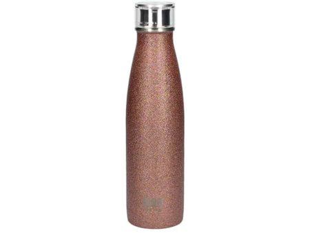 Built NY Stainless Steel Rose Glitter Water Bottle 500ml