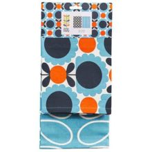 Orla Kiely Tea Towels Set of 2 - Scallop Flower Sky