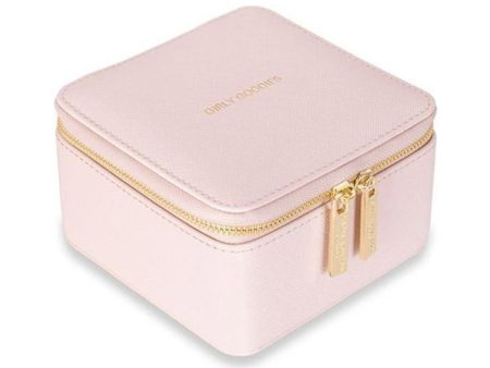 Katie Loxton Square Pale Pink Jewellery Box - Girly Goodies