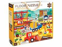 Petit Collage Construction Site Floor Puzzle Boxed