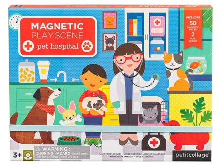 Petit Collage Pet Hospital Magnetic Play Set
