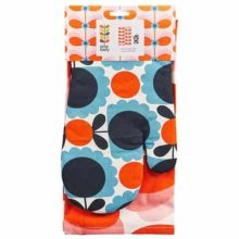 Orla Kiely Tea Towel and Oven Mitt Set - Butterfly Stem