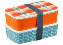 Orla Kiely Bamboo 2 Tier Lunch Box - Butterfly Stem Bubblegum