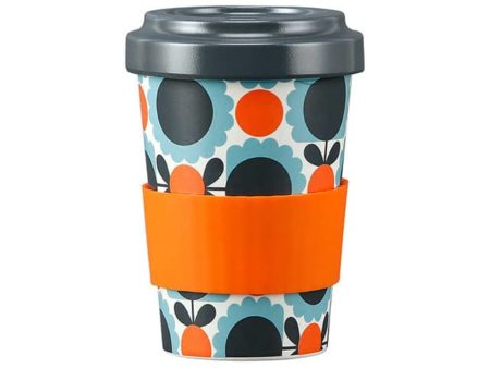 Orla Kiely Bamboo Travel Cup Scallop Flower Sky