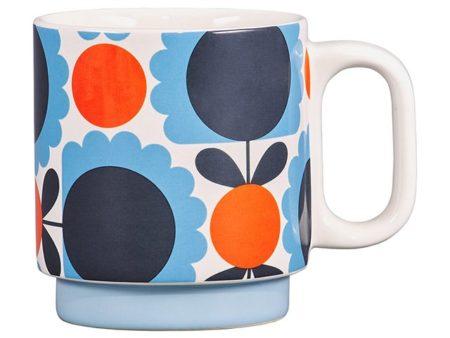 Orla Kiely Scallop Flower Sky Mug