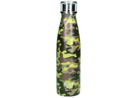 Built 500ml Double Walled Stainless Steel Camo Water Bottle