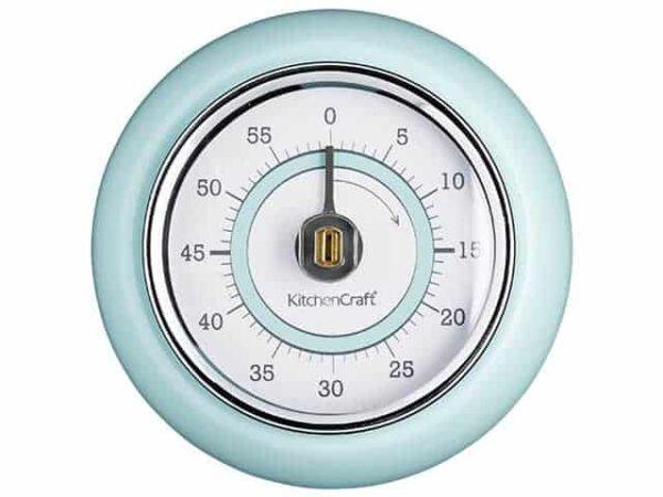 Living Nostalgia Vintage Blue Magnetic Kitchen Timer
