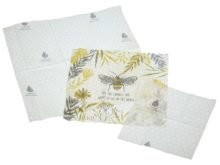 KitchenCraft Natural Elements Eco-Friendly Set of Three Beeswax Food Wraps