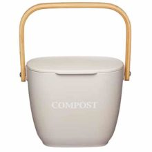 Natural Elements Eco-Friendly Bamboo Kitchen Compost Bin