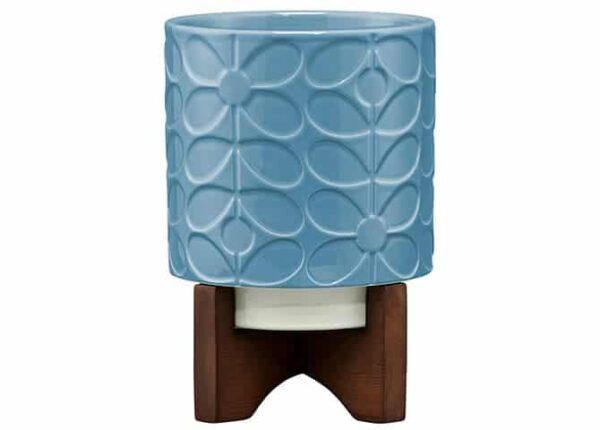 Orla Kiely Ceramic Sixties Stem Sky Plant Pot