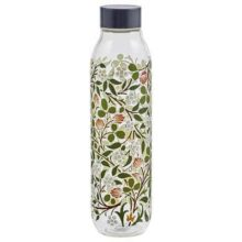 V&A Glass Water Bottle Clover 550ml