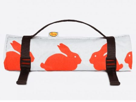 Anorak Kissing Rabbits Large Picnic Blanket