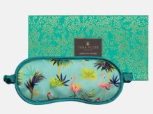 Sara Miller Silk Tahiti Flamingo Eye Mask