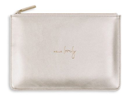 Katie Loxton Perfect Pouch | Hello Lovely | Metallic Silver