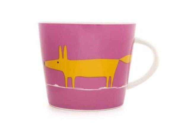 Scion Living Pink & Orange Mr Fox Mug 350ml