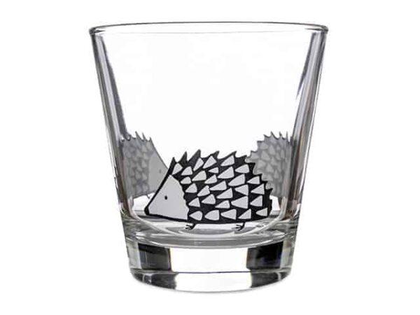 Scion Living Spike Hedgehog Glass Tumbler Grey