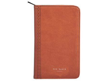 Ted Baker Brogue Tan Travel Documents Holder