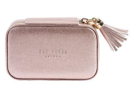 Ted Baker Metallic Pink Mini Jewellery Case
